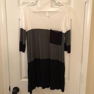 Super soft color block dress